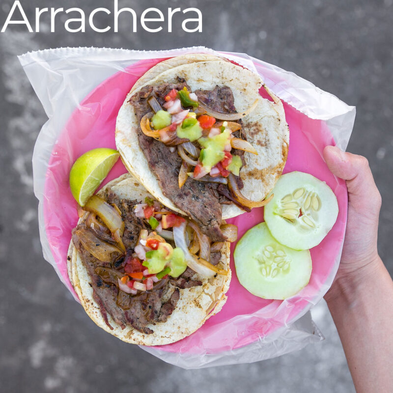 arrachera real mexican taco