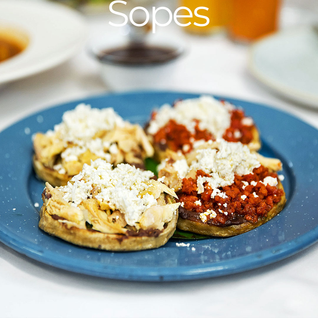 types mexican mini tacos sopes